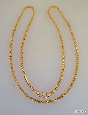 46897769120ef Details about Traditional design 20kt gold chain necklace handmade ...