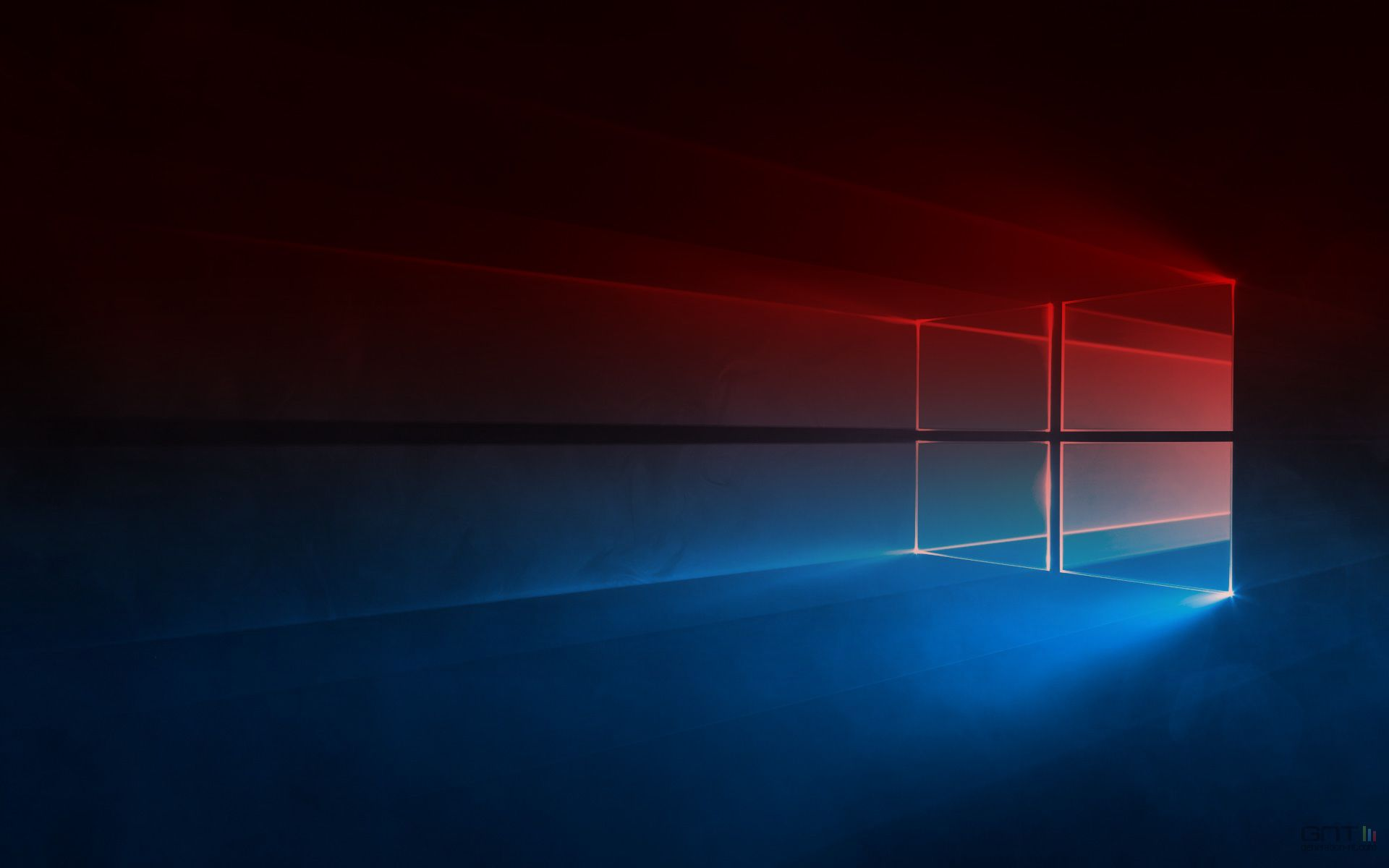 Windows 10 Black Logo On Red Wallpaper Red Wallpaper Cool Desktop Wallpapers Hd Wallpapers For Pc