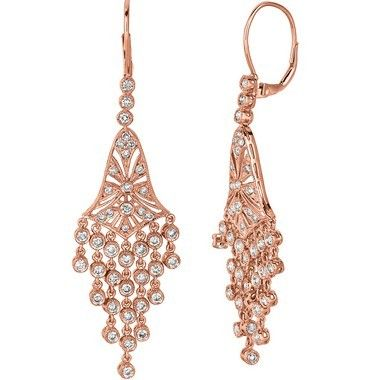 Jewelry point 227ct diamond drop chandelier dangle earrings 14k jewelry point 227ct diamond drop chandelier dangle earrings 14k rose gold 399000 aloadofball Image collections