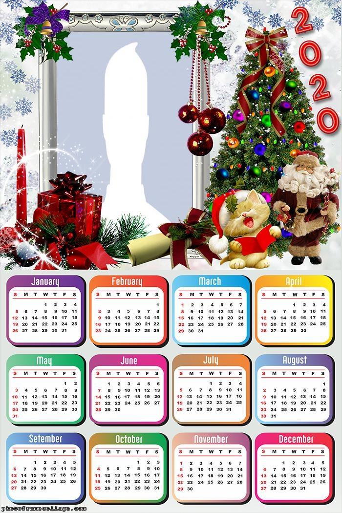 Santa Claus Merry Christmas Calendar 2020 Calendar Pictures Christmas Calendar Christmas Frames