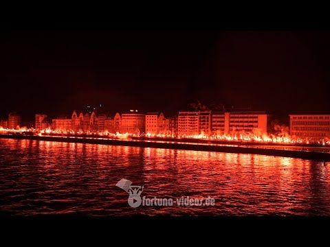 120 jahre fortuna d sseldorf pyroshow auf der rheinpromenade youtube fu ball in 2018. Black Bedroom Furniture Sets. Home Design Ideas