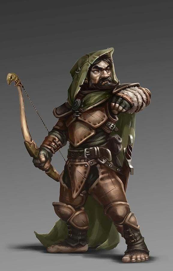 Halfling Ranger Archer - Pathfinder PFRPG DND D&D d20 fantasy                                                                                                                                                                                 More