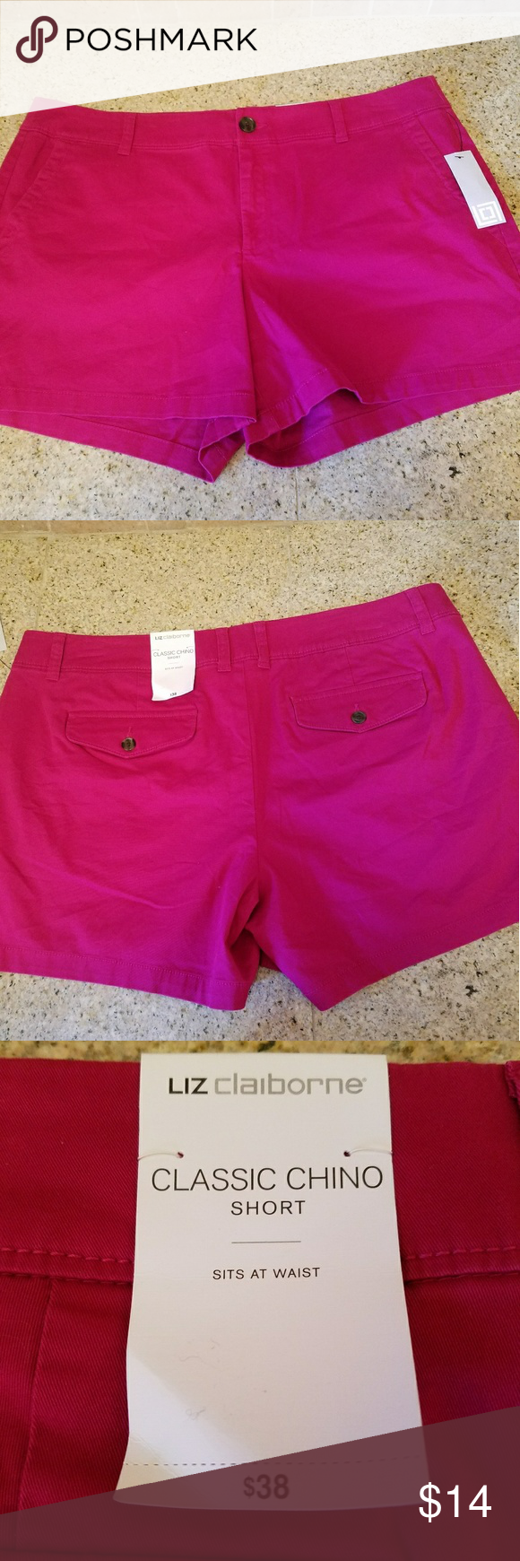 Liz Claiborne hot pink shorts GORGEOUS hot pink! A must-have for the summer wardrobe! Liz Claiborne Shorts