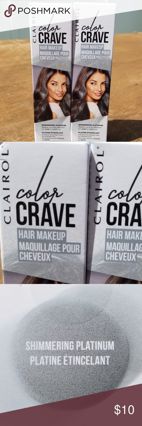 2 Clairol Color Crave 2 Clairol Color Crave hair makeup in