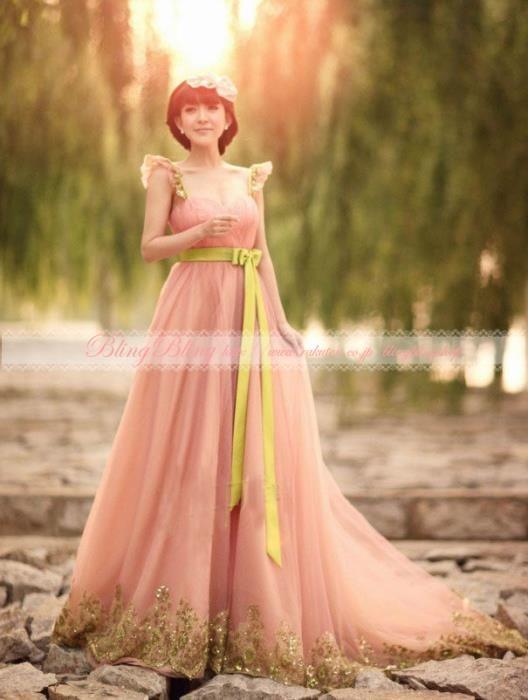 fdeba23f04167  楽天市場 素敵な ♪パーティードレス♪演奏会♪結婚式♪ウェディングドレス 二次会 ☆ドレス☆格安 結婚式  ウェディングドレス ...
