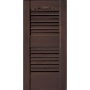 Builders Edge 12 In X 25 In Louvered Vinyl Exterior Shutters Pair 282 Colonial Green 010120025282 At The H Shutters Exterior Builders Edge Louvered Shutters