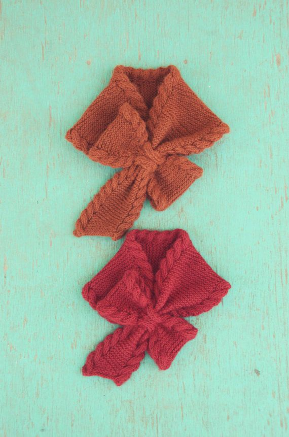 Bow Tie Ascot PDF Knitting Pattern Instant Download (ENGLISH ONLY ...