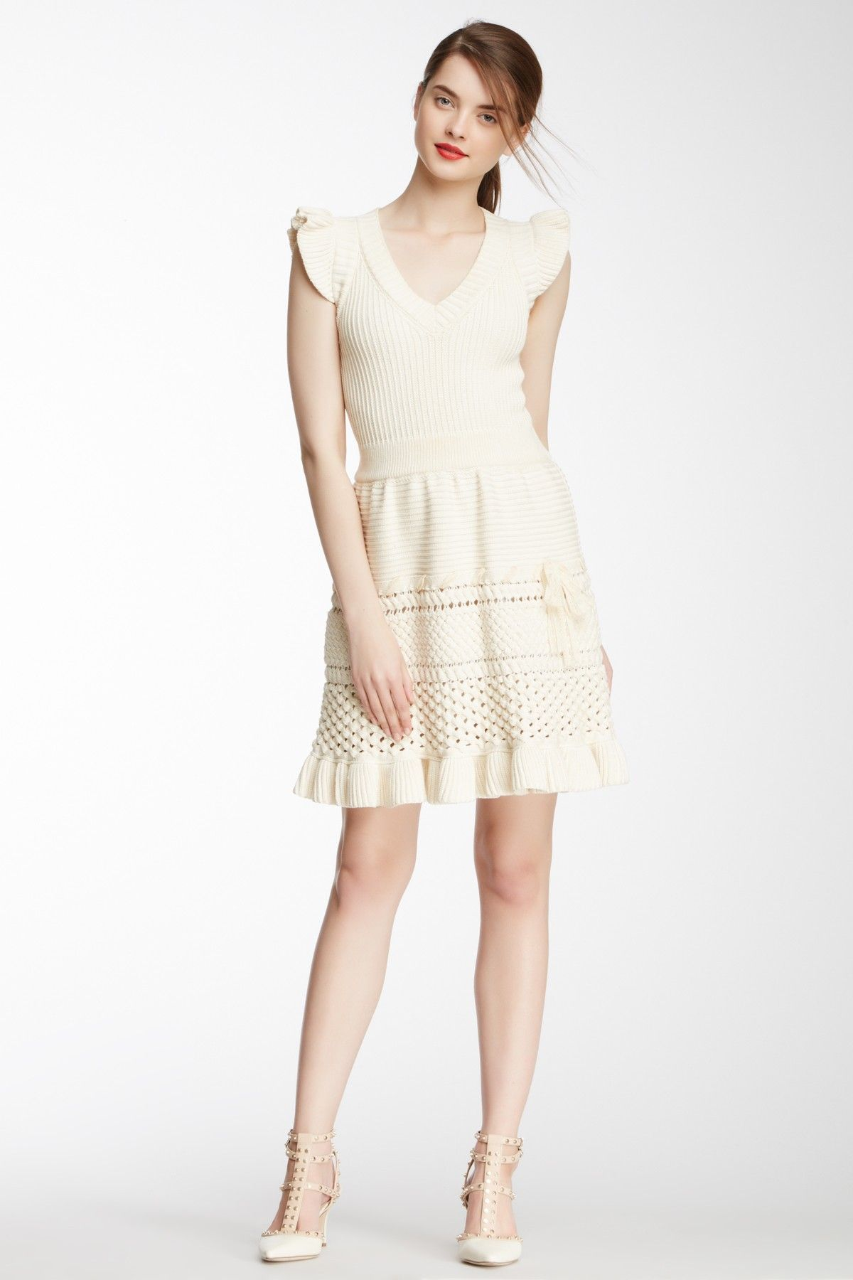 red valentino chunky knit tennis dress pascale de groof style red valentino chunky knit tennis dress pascale de groof