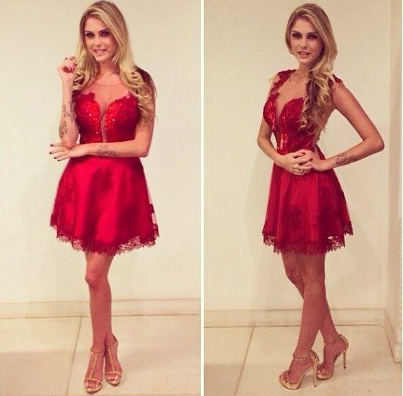 ad7fd5bba Vestidos vermelhos para balada de Bárbara Evans