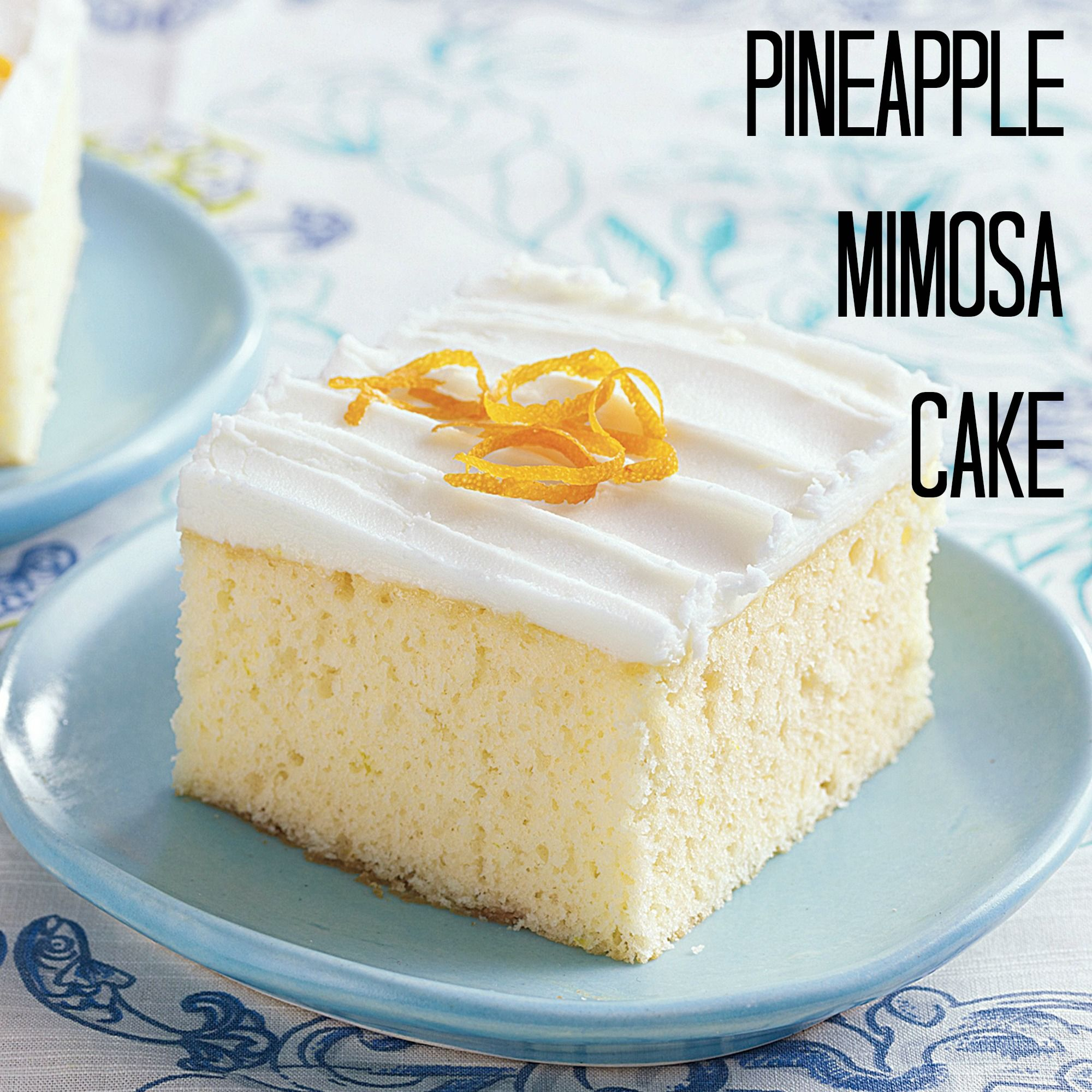 Pineapple Mimosa Cake Recipe With Images Desserts Cake