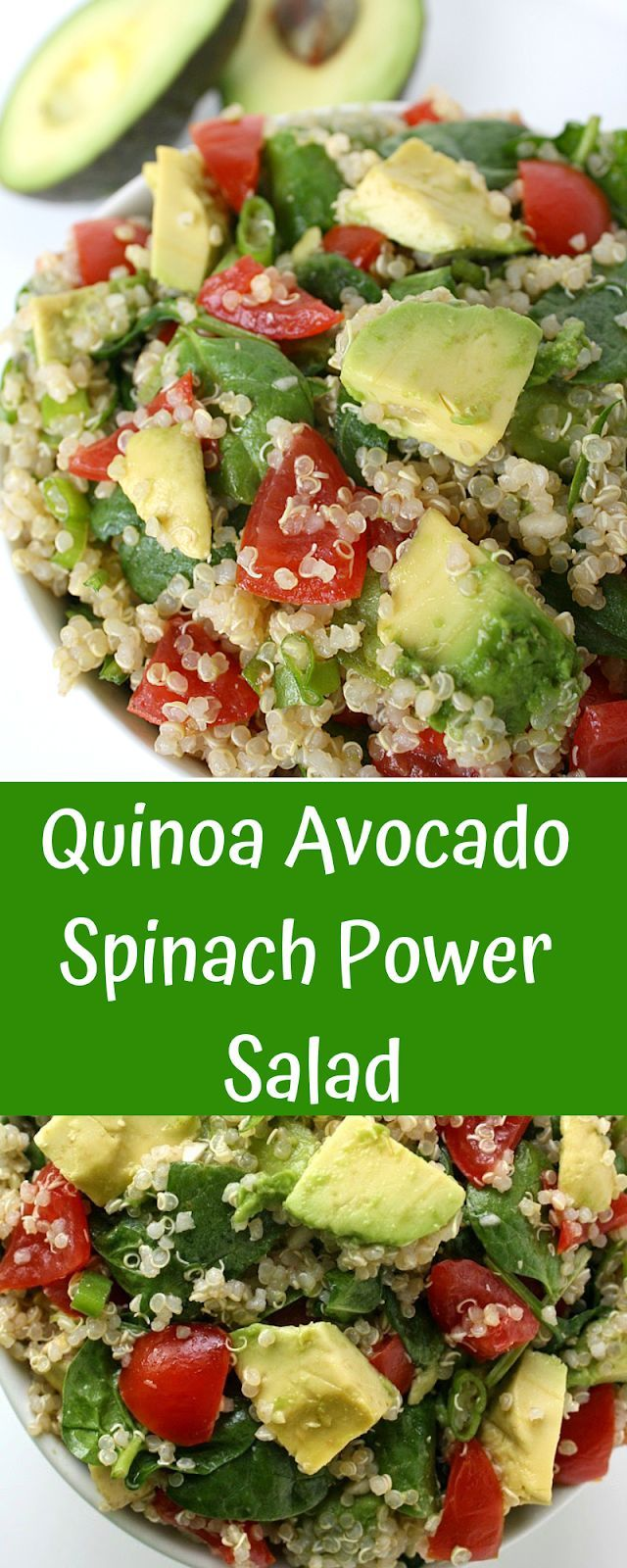 Quinoa Avocado Spinach Power Salad.  #health #fitness #naturalremedies #healthyliving #weightlosside...