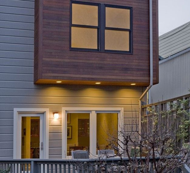 Modern Exterior Wood Siding: Painting Vinyl Siding Contemporary Exterior With Natural