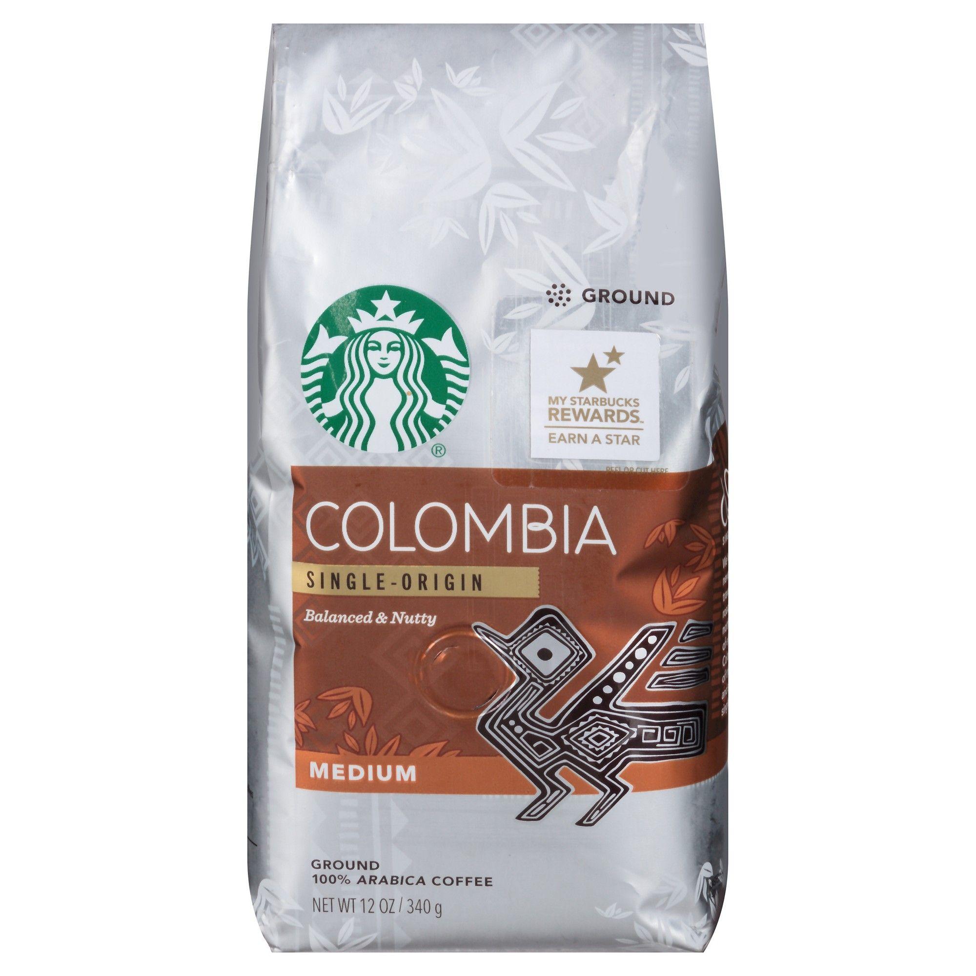 Starbucks colombia medium roast ground coffee 12oz