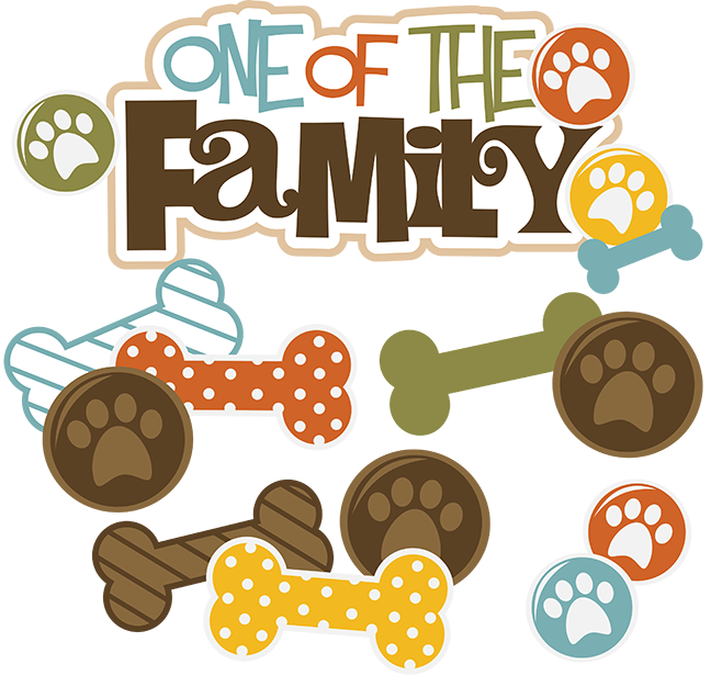 One Of The FamilyDog SVG files for Scrapbooking Pet