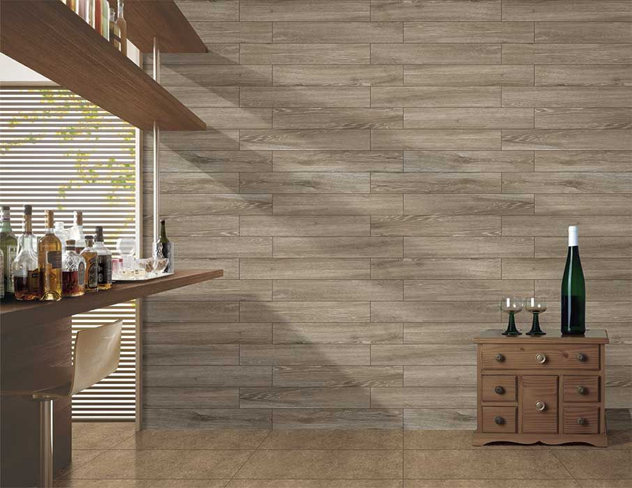 Kajaria Brings You The Warmth Of Real Wood Finish Minus All The Fussy Maintenance Rituals Its Superior Strength And Durabi Wood Tile Large Tile Wall Cladding