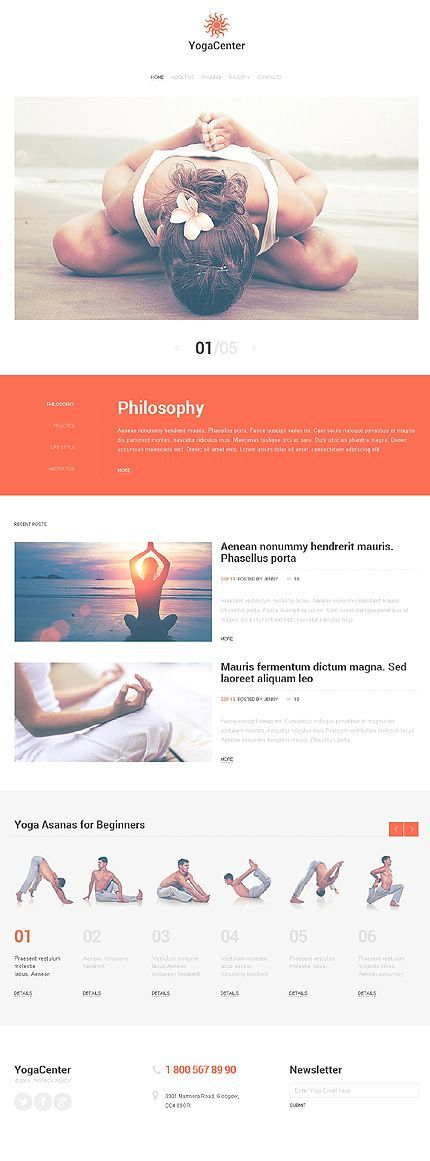 Yoga Clinics Wordpress Themes - Web design Templates | Plantillas ...
