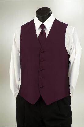 Mens Formal Tuxedo Vest /& Bow-Tie Set in Sangria
