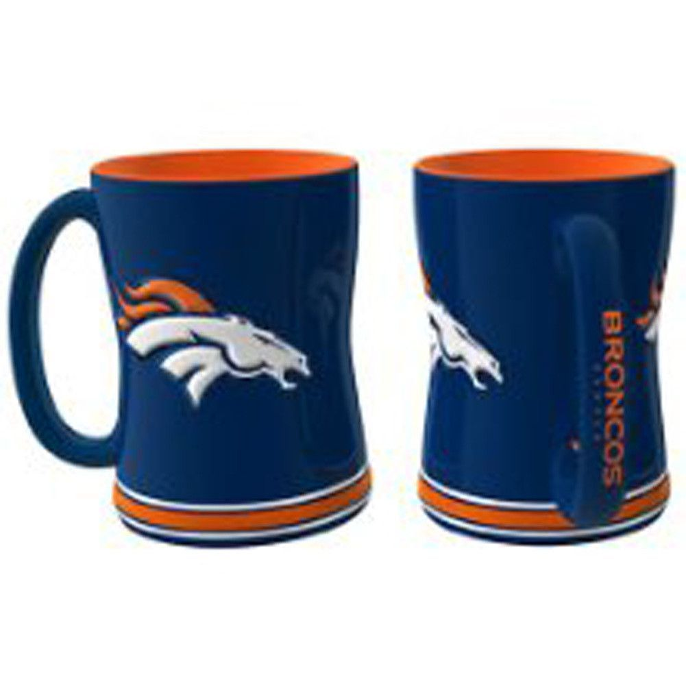 Denver Broncos Coffee Mug - 15oz Sculpted (Single Mug)