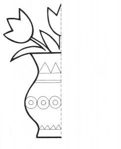 flower Symmetry Activity Coloring Pages for kids