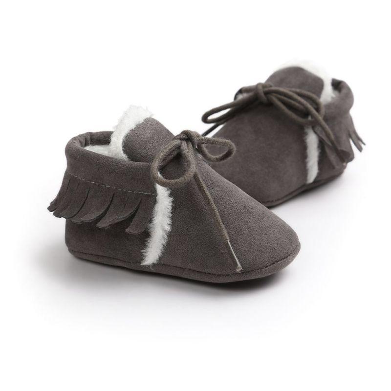 Bébé Garçon Fille Bébé Mocassins Souple Moccs Chaussures Bebe Fringe À Semelle  souple antidérapante Chaussures Lit