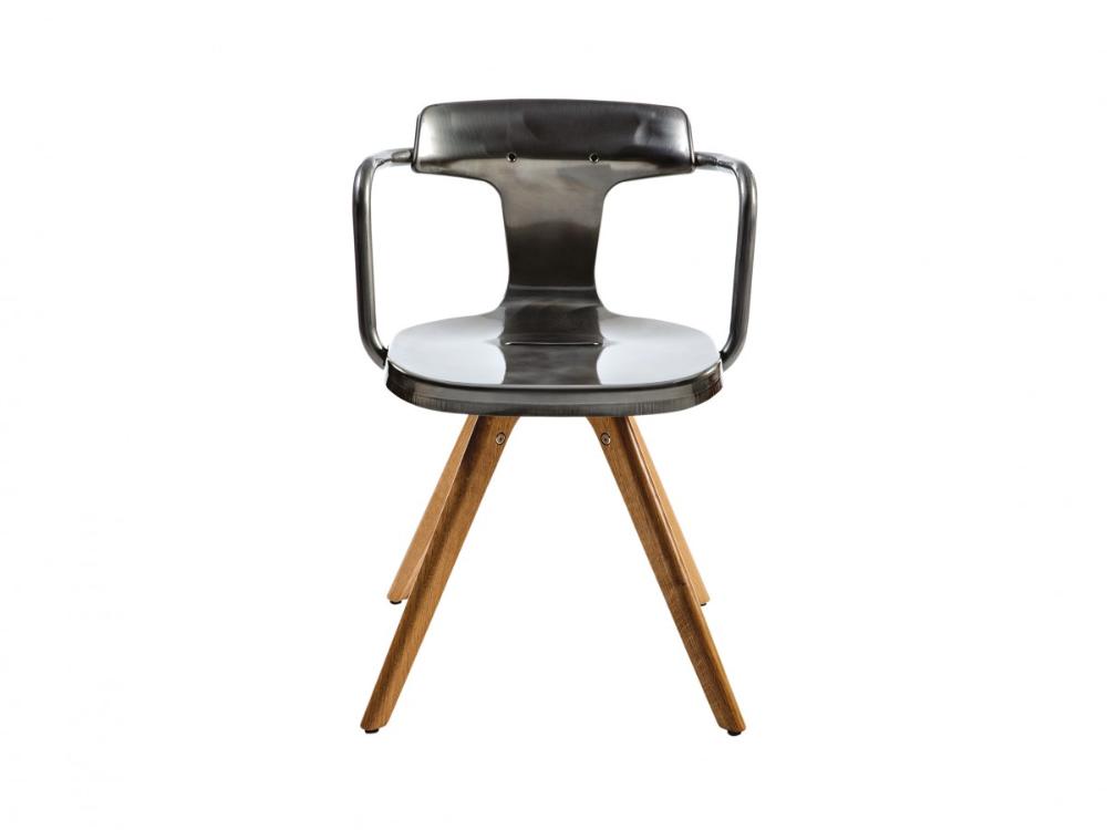 Tolix Stuhl Made In Frankreichentworfen Von Patrick Norguet Holzbeine Sitz Und Rucken Aus Stahl Raw Lackiert Gemalte Oder Verzinkter Oberflache Rohsta Sofa S