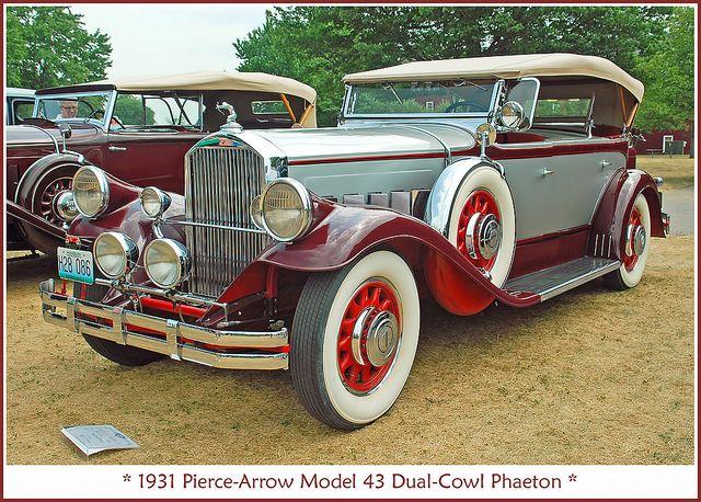 1931 Pierce Arrow Model 43 Antique Cars Cars Unique Cars