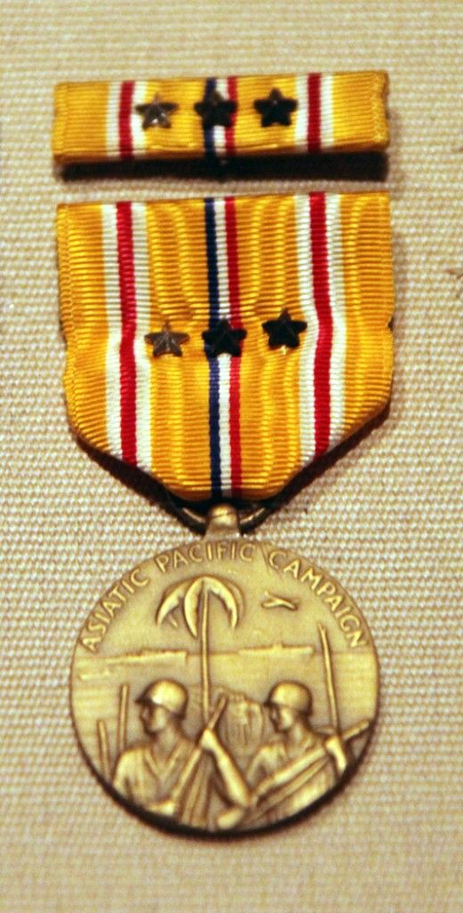 Asiatic   Pacific Campaign Medal This Medal Was Awarded To Any Member Of  The US Military To Serve In The Pacific Theater From 1941 To 1945.