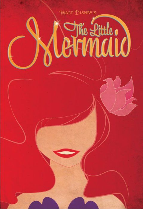 little mermaid minimalist movie poster