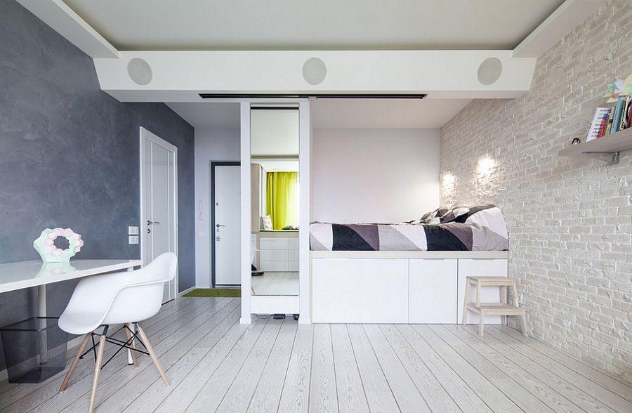 Unique Bedroom Design Keeps Things Minimal [From: Denis Esakov Photography]