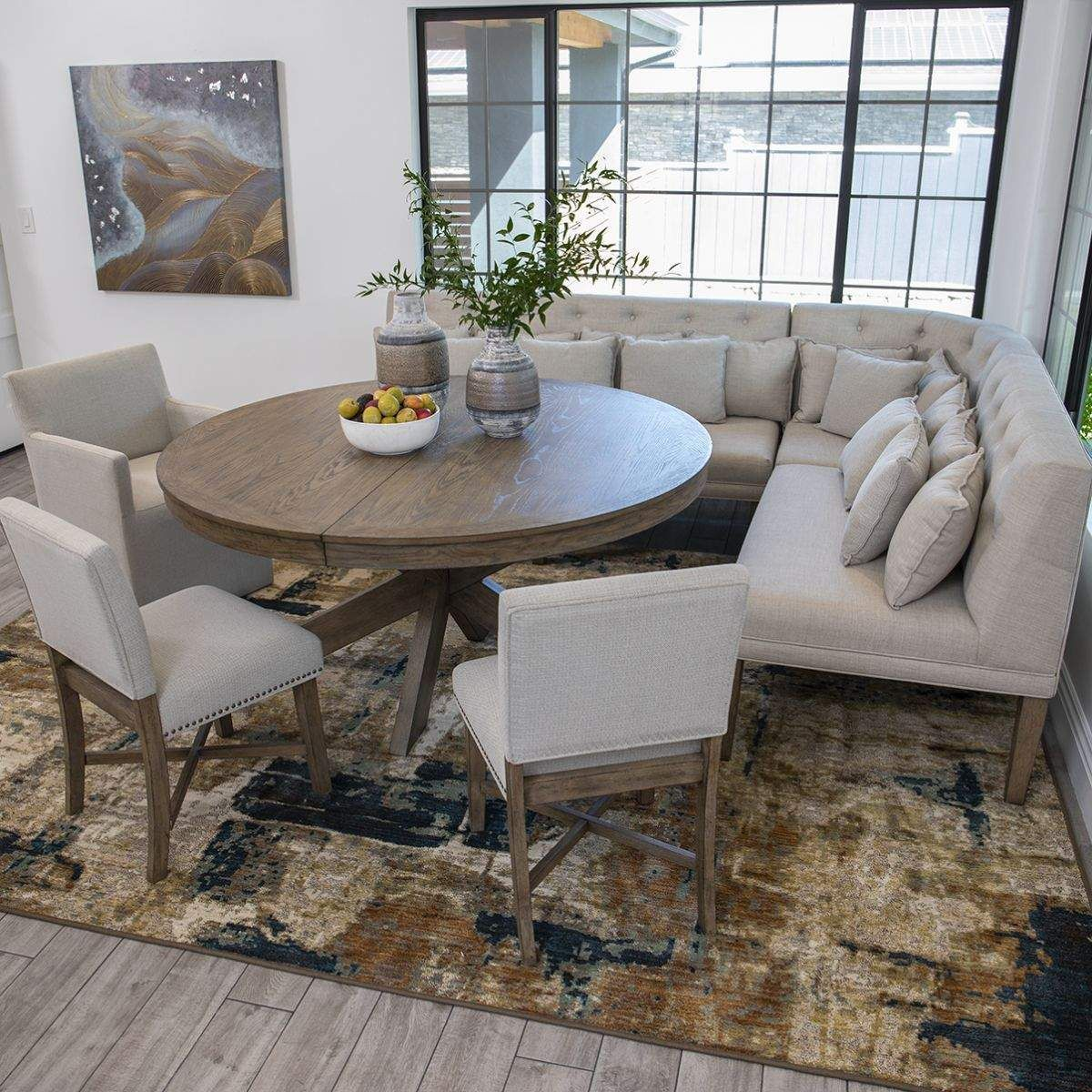 Gwyneth Dining Table Complete Corner Bench 2 Side Chairs 1 Host Chair Dining Room Table Set Wood Dining Room Table Dining Room Bench Seating