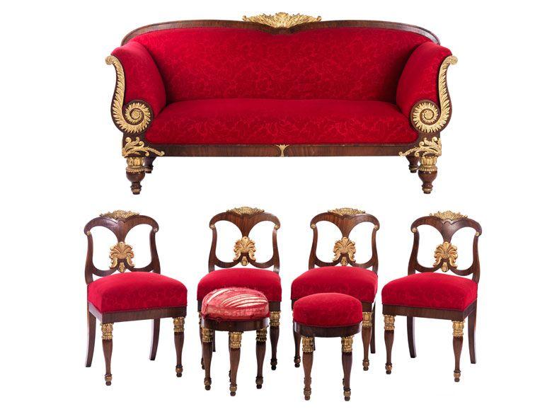 Außergewöhnliche klassizistische Sitzgruppe | Royal furniture ...