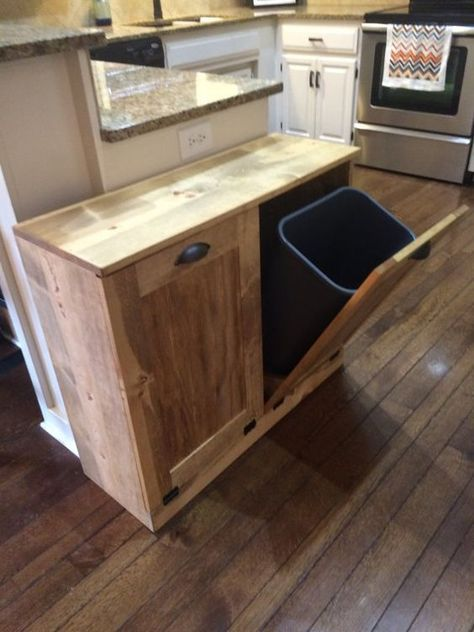 March Sale Double Trash Recycle Bins Rustic Tilt Out By Lovemade14 Hacer Muebles De Cocina Muebles Pequenos Almacenaje De Cocina