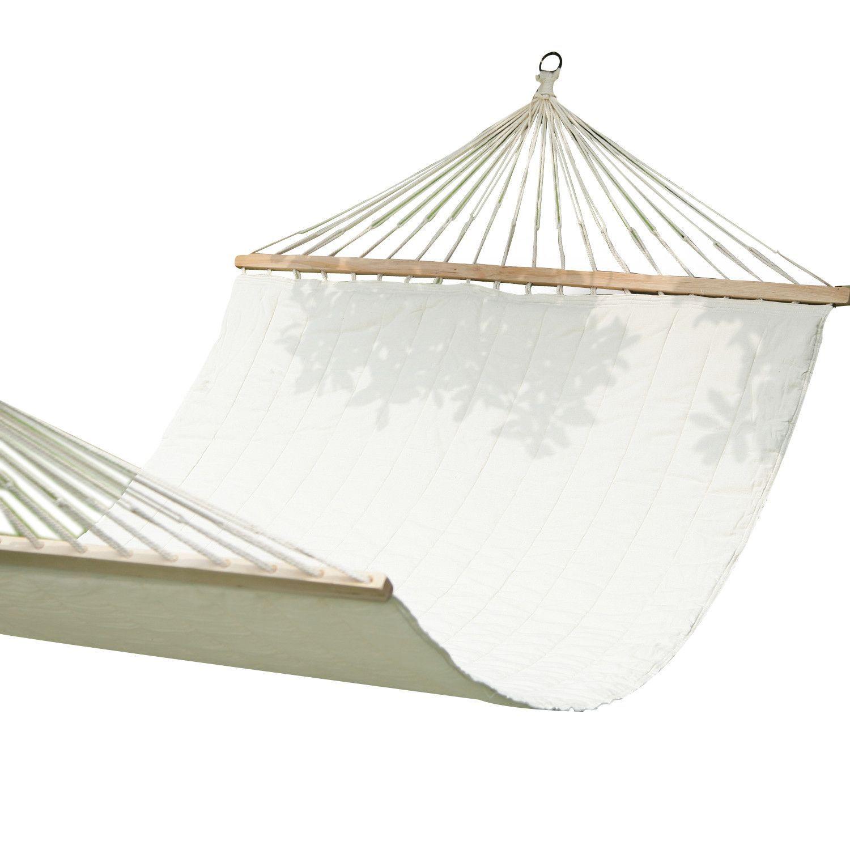 Furnistars White Outdoor Hammock Chair with Spreader Bar