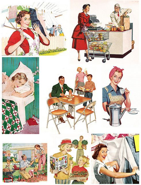 1950s Digital Images of Women Journal Cover Decoration Accessories Retro Pinup Girl Tags Scrapbook Layout Page Embellishment