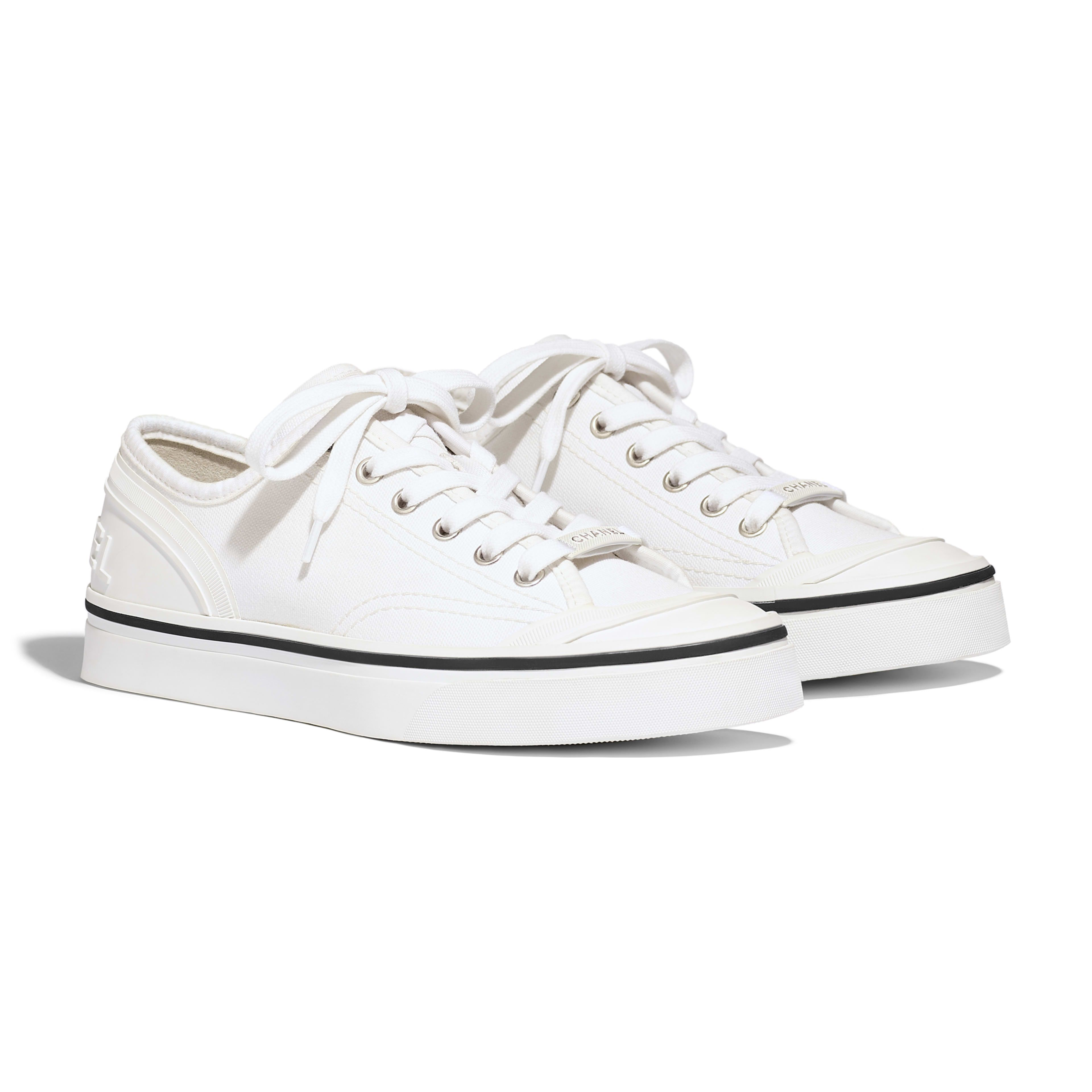 Fabric Ivory Sneakers | CHANEL | Chanel