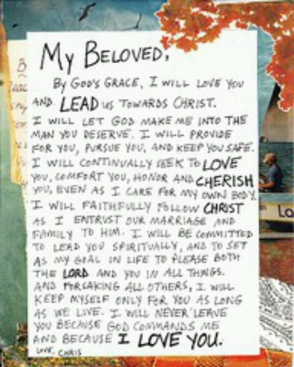 letter written from groom to his bride