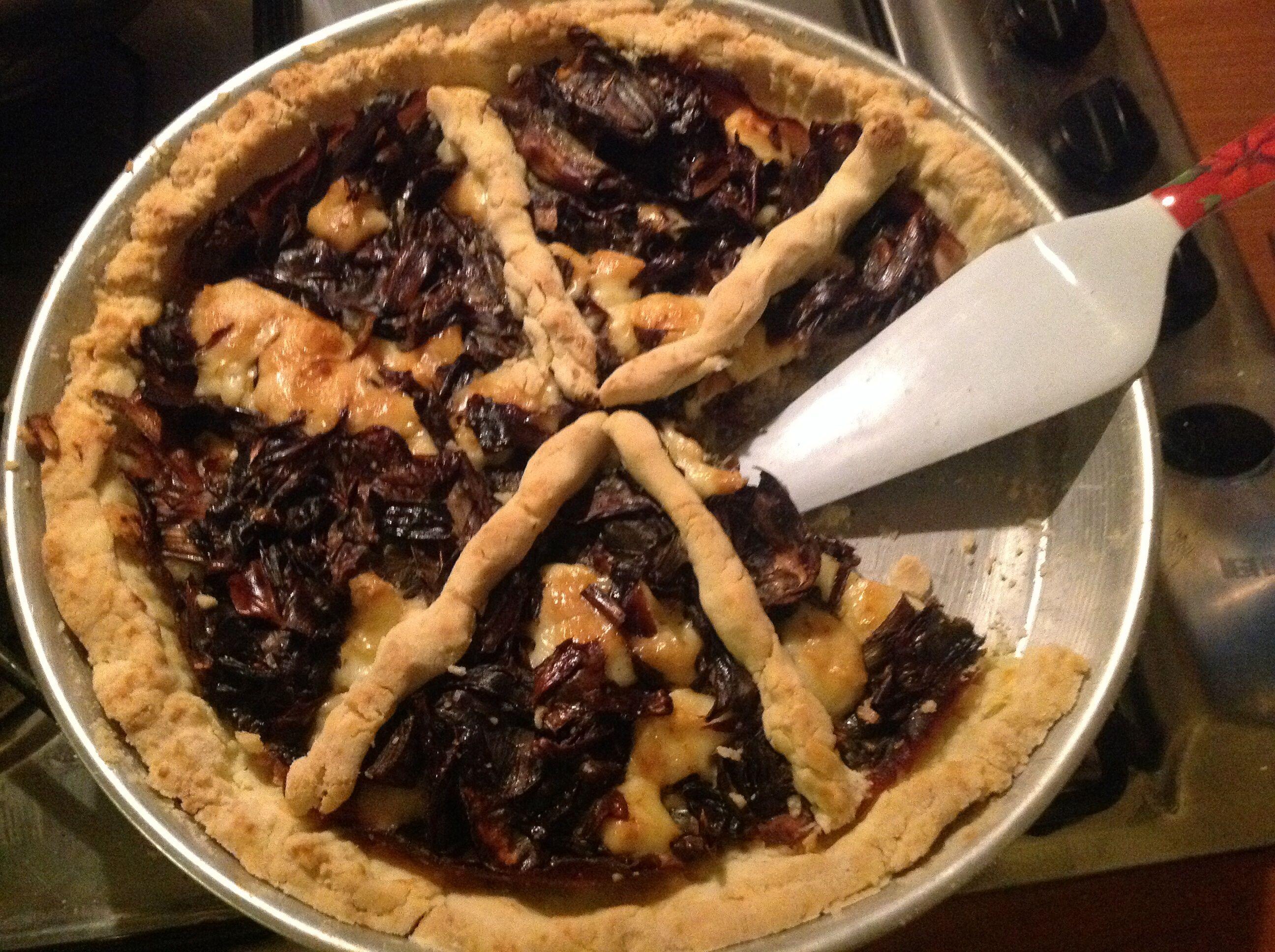 Torta+di+carciofi+e+arista+al+forno