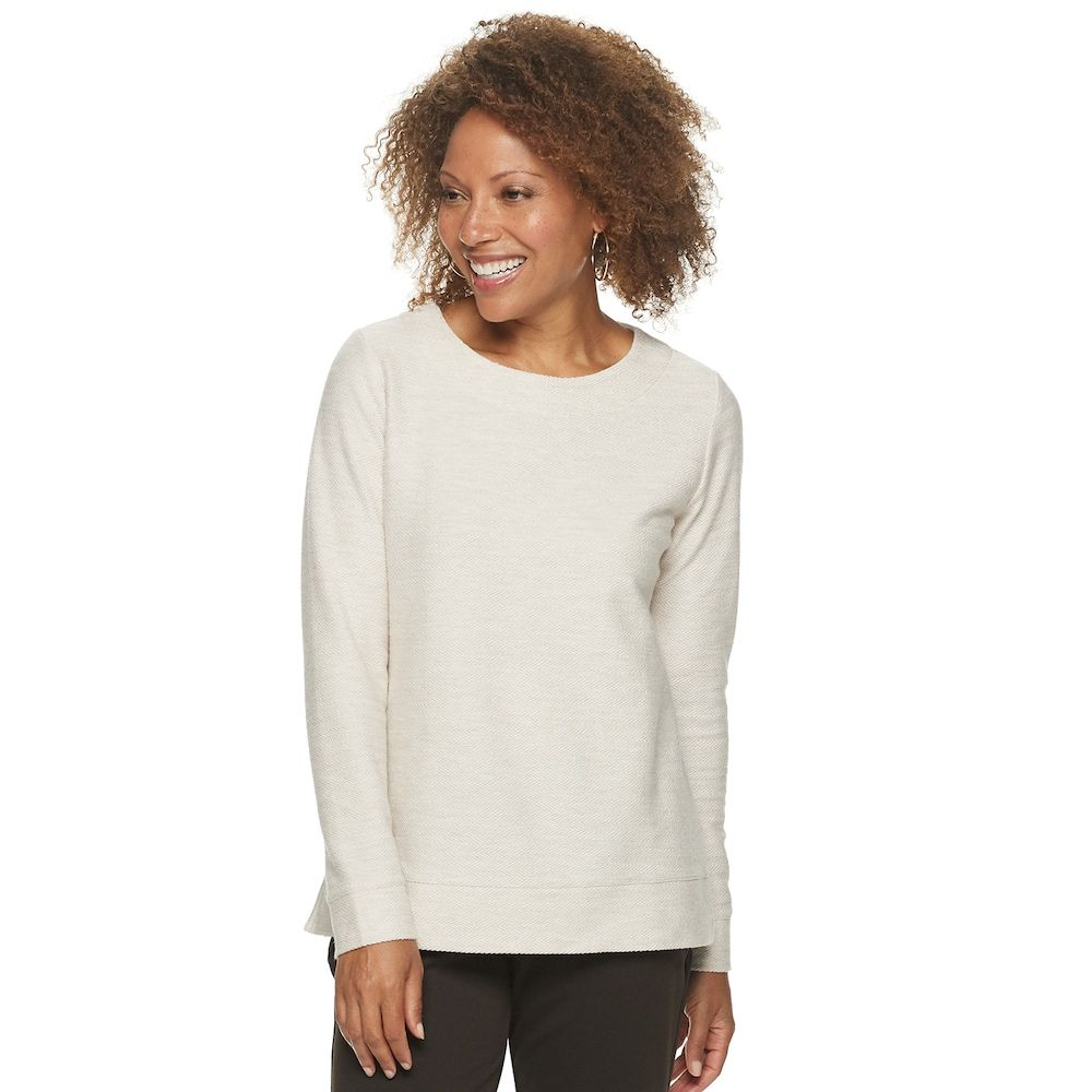Petite Croft Barrow Crewneck French Terry Sweatshirt Women Terry Sweatshirt Tunic Sweatshirt [ 1000 x 1000 Pixel ]