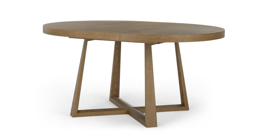 Belgrave 4 6 Seat Round Extending Dining Table Dark Stained Oak