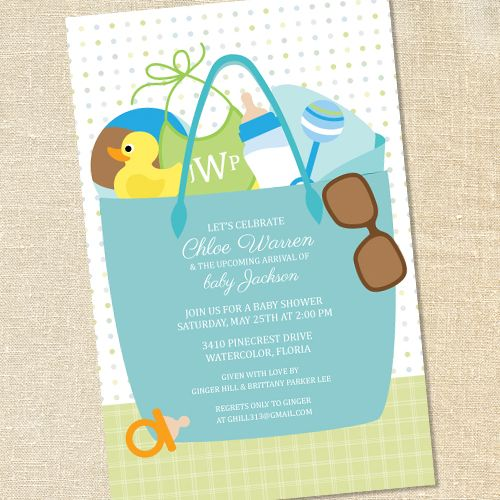 Sunglasses Invitations For Baby Showers
