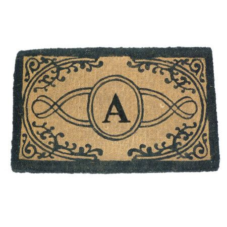 "I pinned this Bristol Monogrammed 18"" x 30"" Doormat from the Warm & Welcoming event at Joss and Main!"