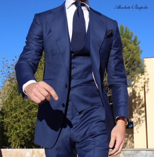 13fad884ac7224 Absolute Bespoke — Absolute Bespoke Madrid blue... Suit Accessories,  Checked Suit,