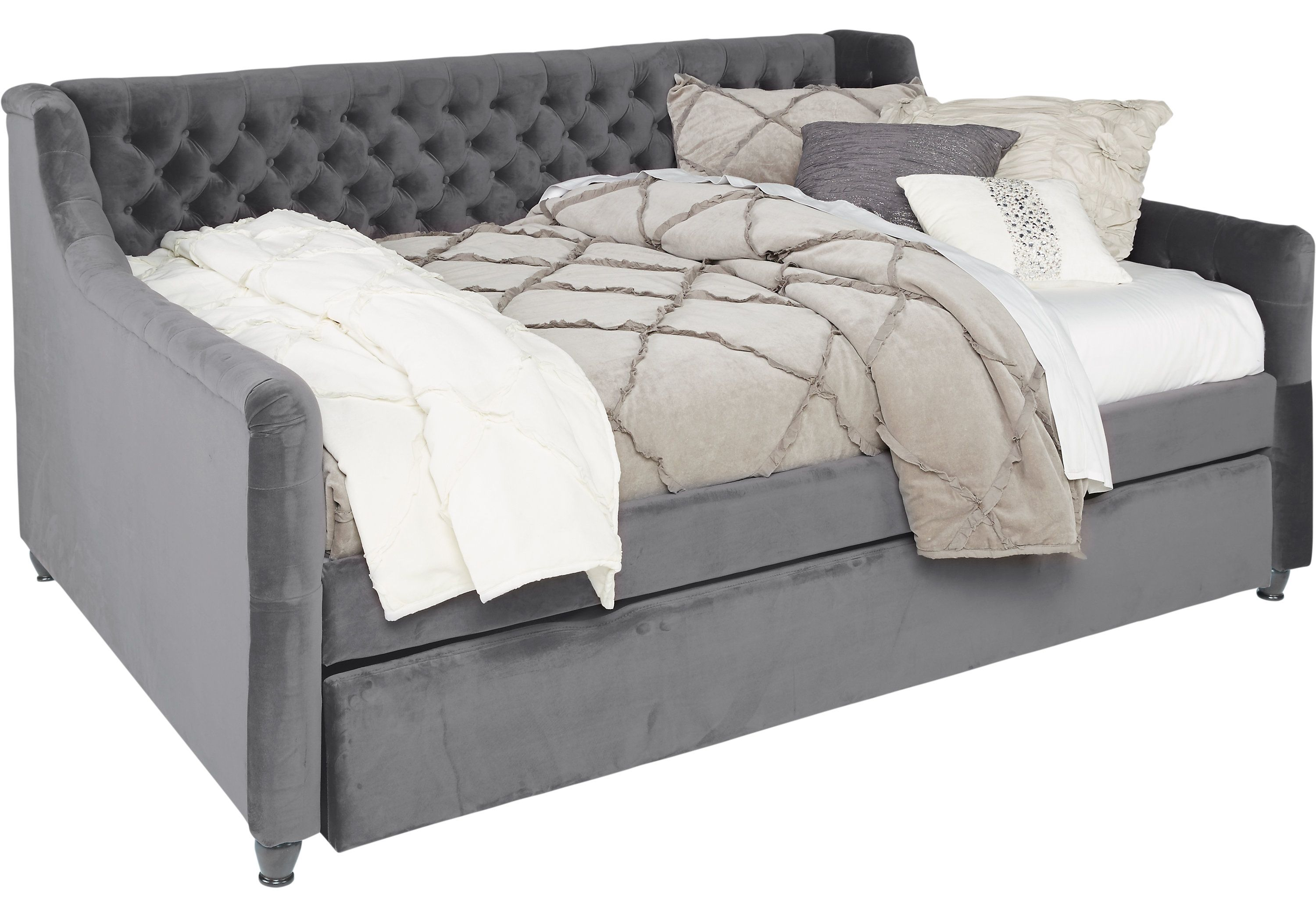 Daybed with trundle full size alena charcoal  pc full daybed with trundle  mira monster the