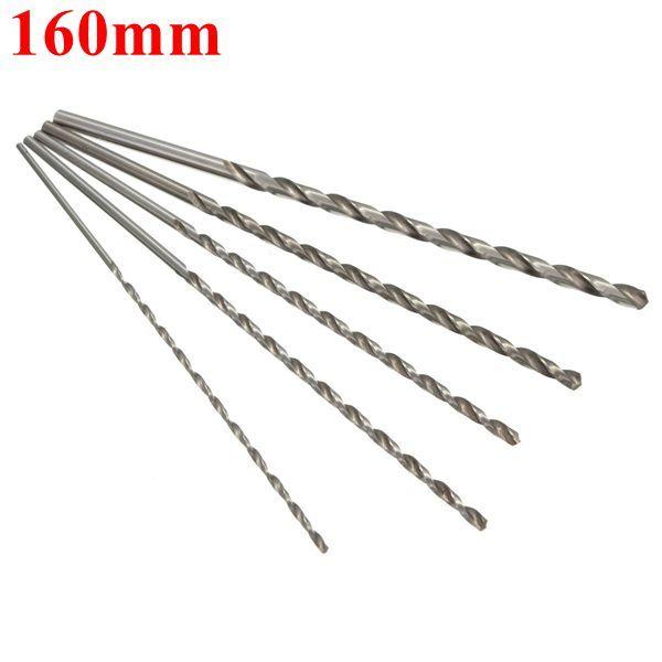 2mm To 5mm Diameter Extra Long Hss Auger Twist Drill Bit Straigth Shank 160mm