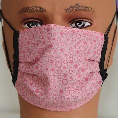 Photo of Light Pink Stars Royale Face Mask