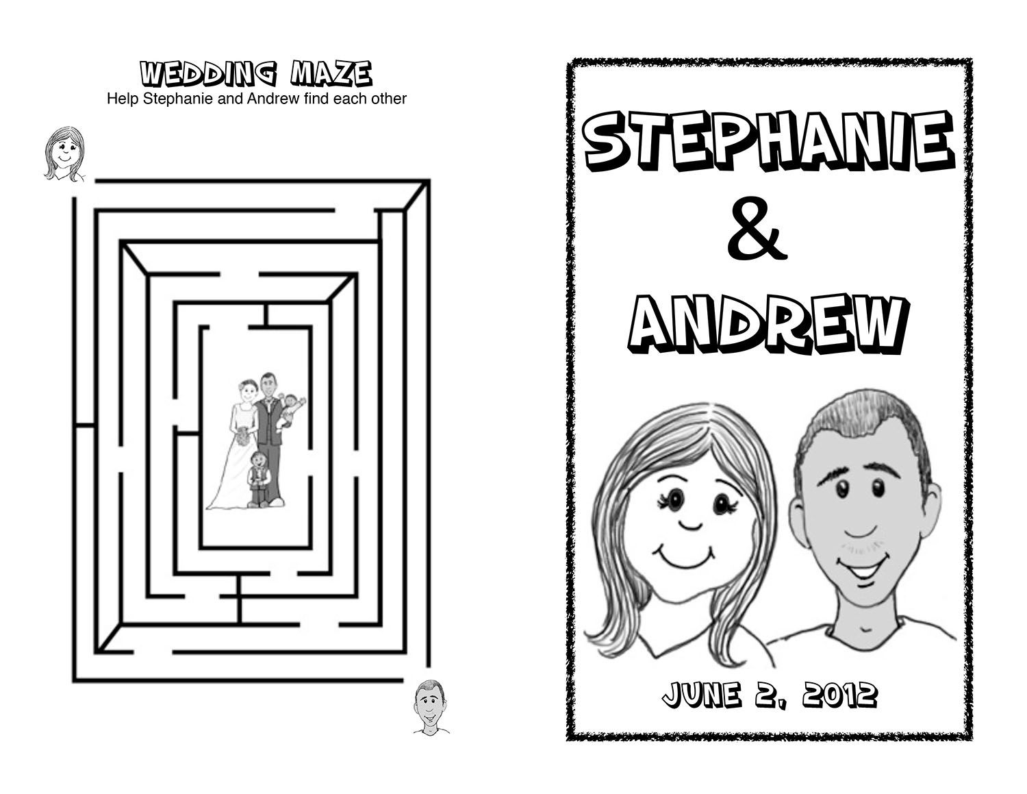wedding maze colouring kb credited wedding coloring book - Wedding Coloring Books For Children