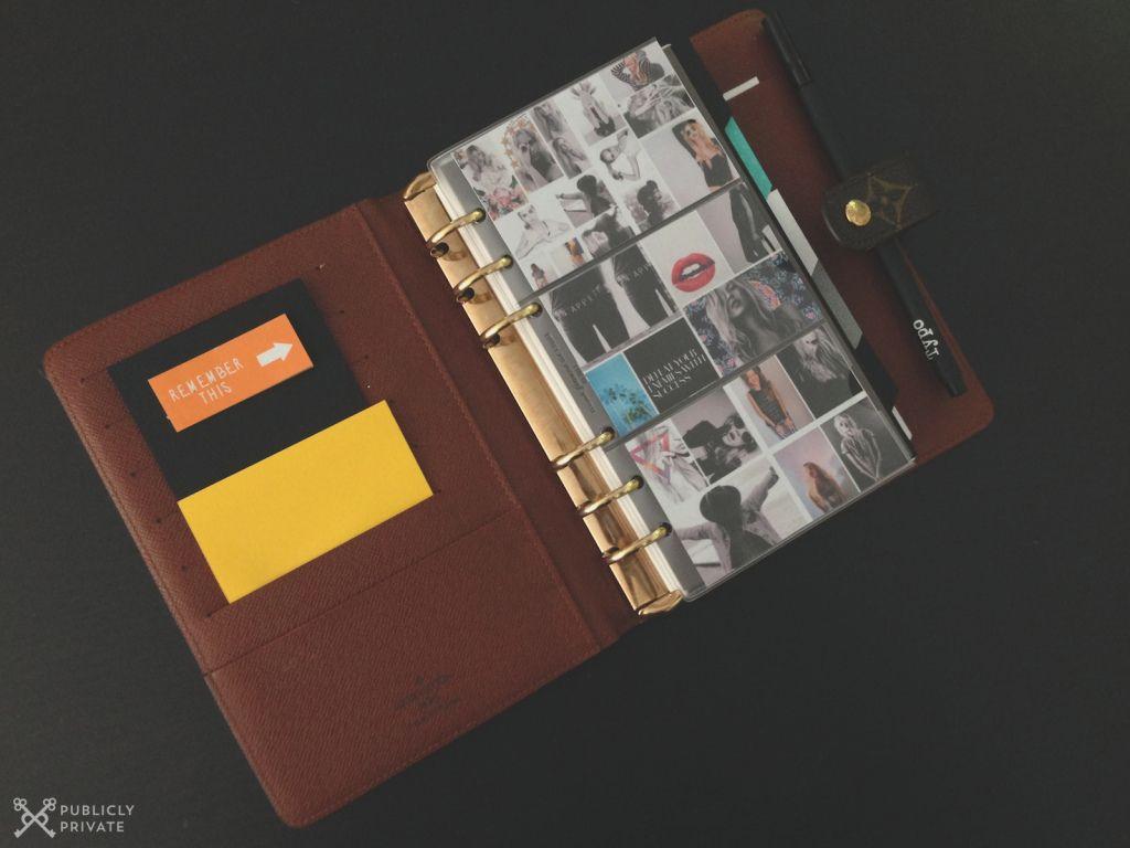 b526c7e58bc DIY Agenda Dividers  Filofax Louis Vuitton Planner