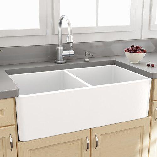 Porcelain Farmhouse Kitchen Sink - Best Home Interior •