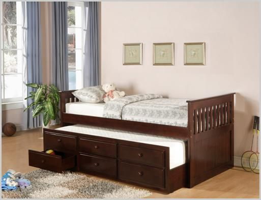 Best Twin Mates Bed With Trundle And Three Under Bed Storage 400 x 300