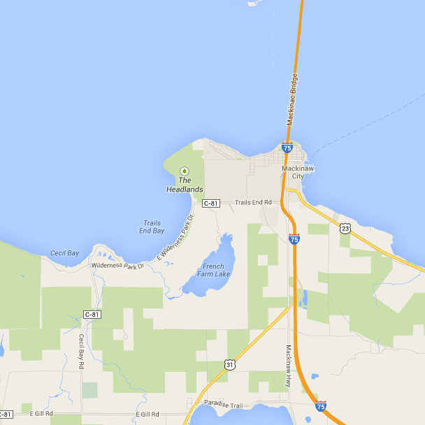 French Farm Lake Mackinaw City Michigan Free Campsites Near You Mackinaw City Go Camping Travel